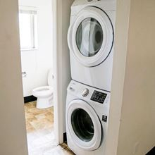 In-Apartment Laundry Option Available